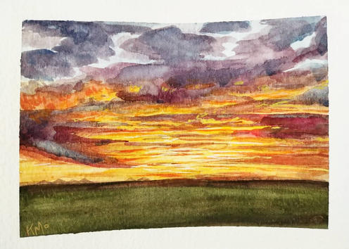 Fire in the Sky - A Prairie Sunset