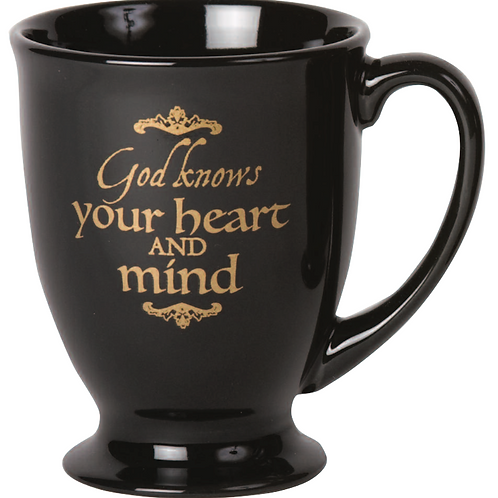 """God Knows Your Heart And Mind"" Mug"