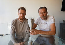Paul & James Gilley with the angel 1.jpg