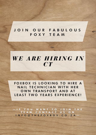 We are hiring in Cape Town!