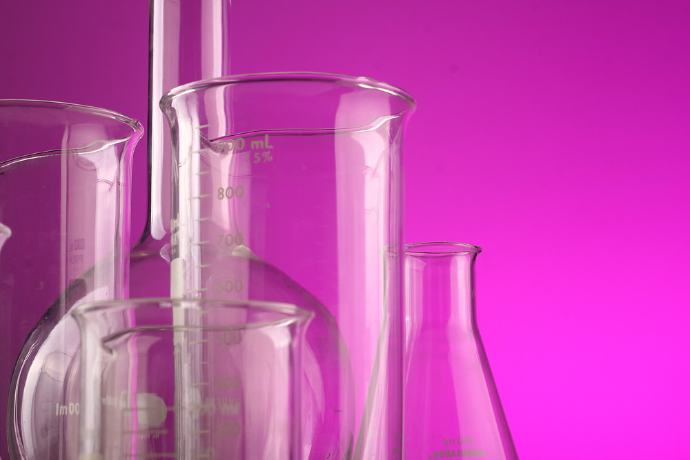 lab tools pink background