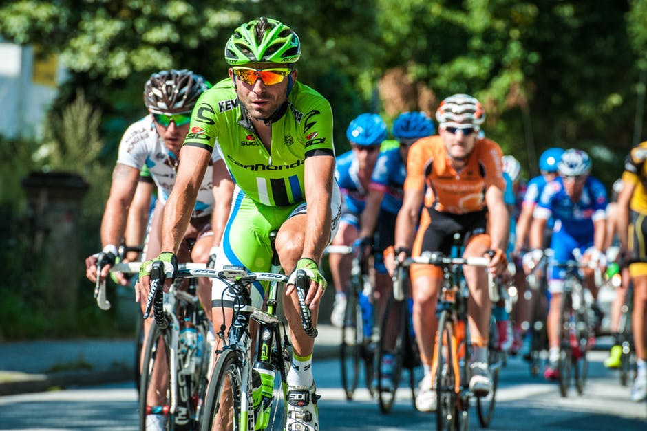 man on bicycle racing