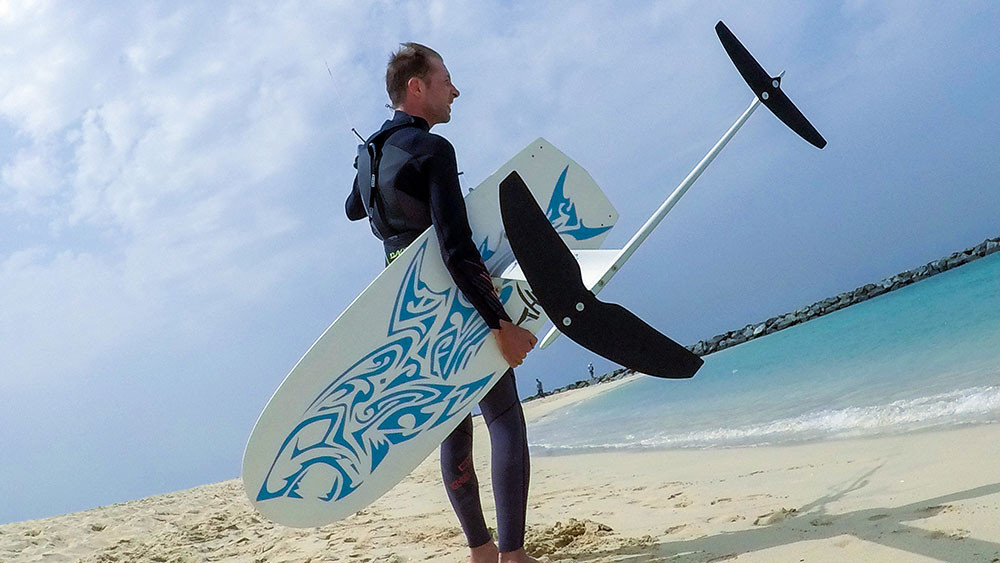 Renaud Barbier with the Manta Mono kitefoil