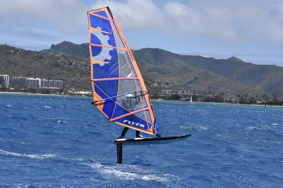 Danicks sailer windfoiling on neilpryde and sailworks