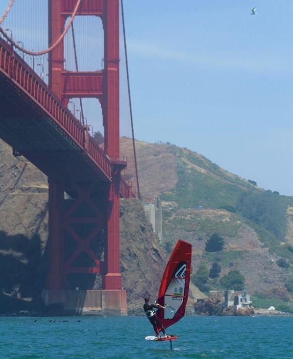 Golden gate windsurfing foil