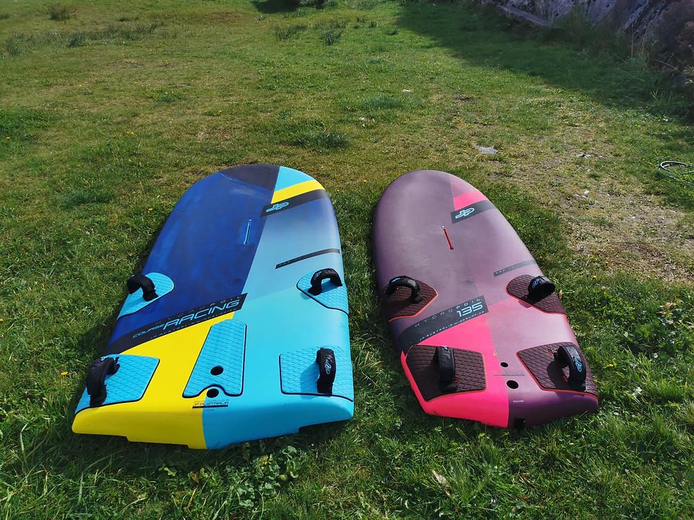 JP windfoil race board vs 135 L JP hydrofoil board