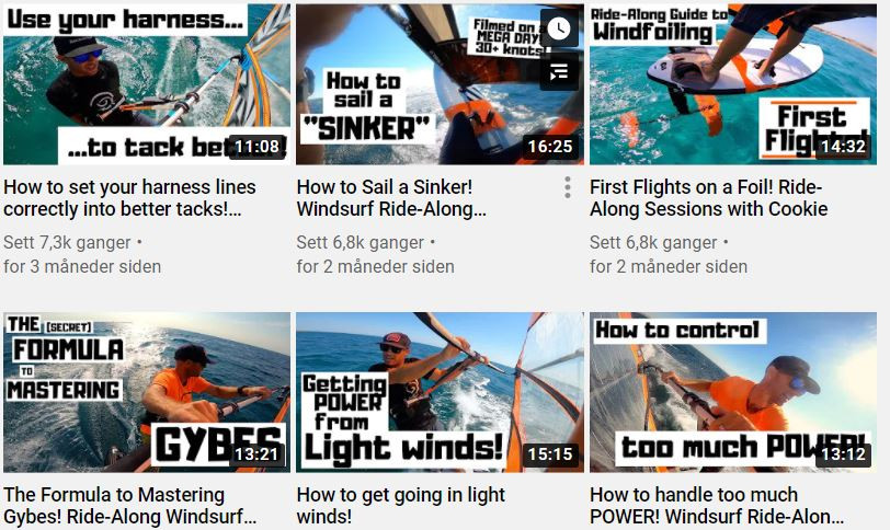 Windsurf coaching youtube channel