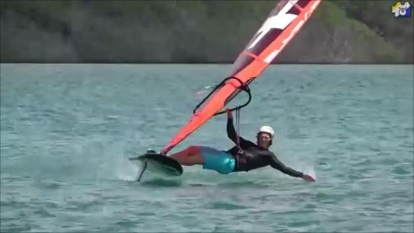 Balz Muller foil windsurf moves