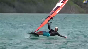 Balz Muller foil windsurf moves
