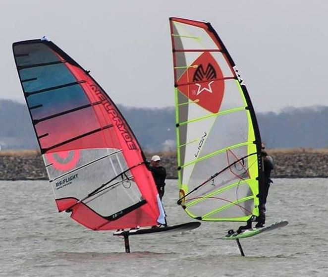 Windfoiling in Texas USA
