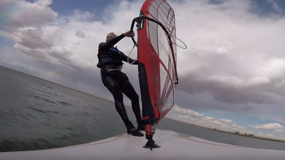 going upwind foiling