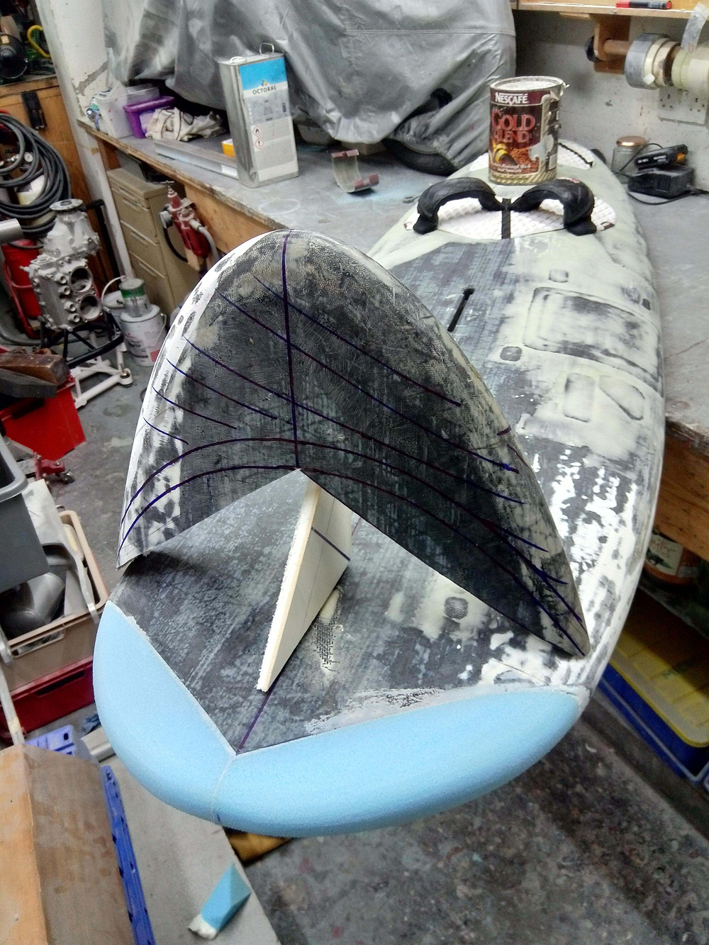 Windfoil board stubby nose
