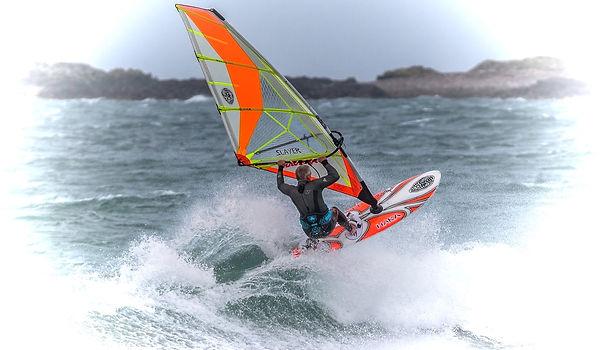 John Maze windsurfing