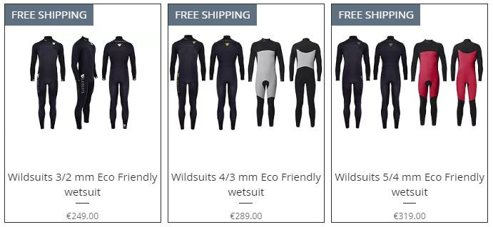 Buy wildsuits eco friendly wetsuit