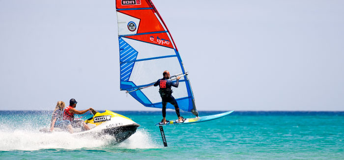 windsurf foil in fuerteventura