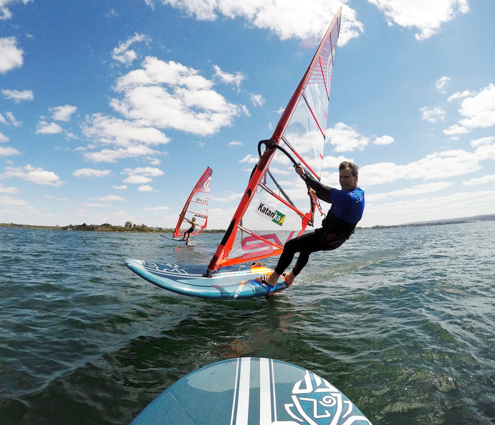 Marcello Morronn on his starboard windfoil