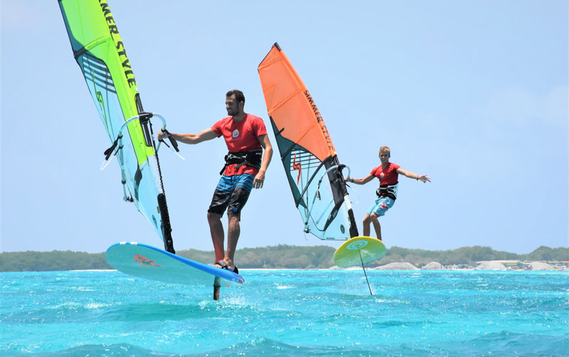 windfoil lessons in Bonaire