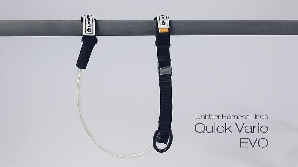Adjustable harness lines unifiber