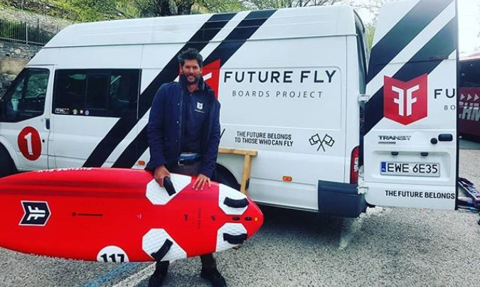 Arnon and his Future Fly van
