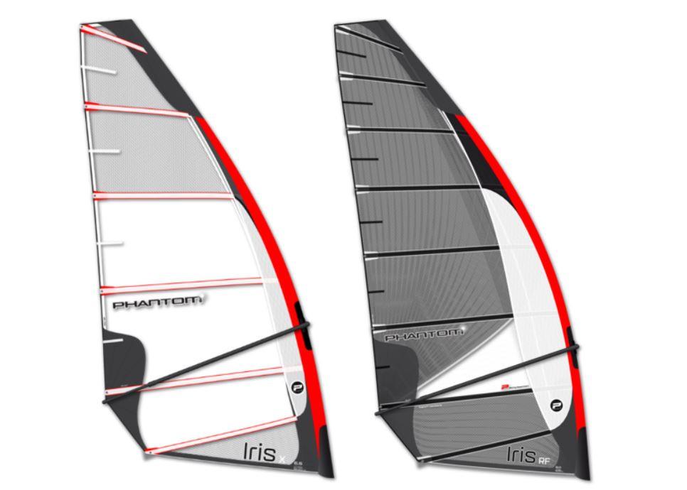 Phantom Iris X and Iris RF foiling sails