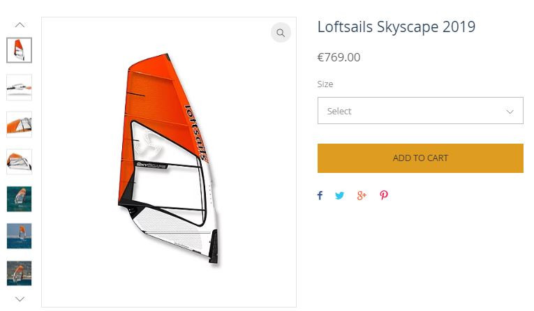 loftsails skyscape windfoil sail 2019