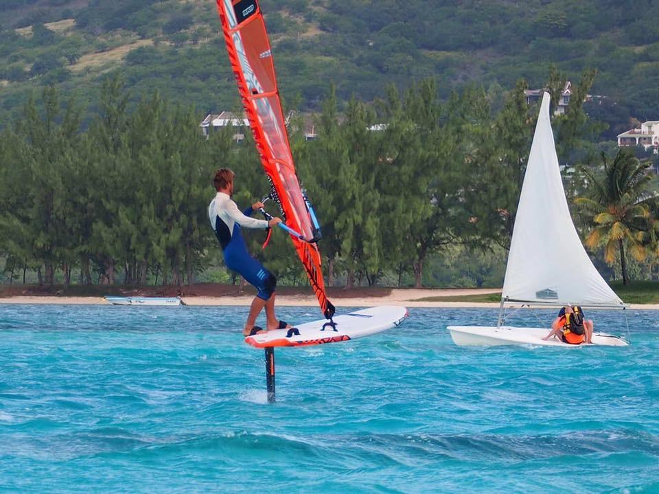 hydrofoil windsurfing in Gostovo, Brazil