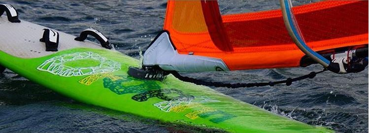 Surfbent windsurf board protector in action