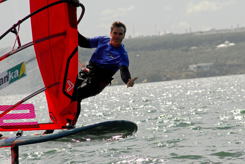 Flying on Starboard windfoiling equipment