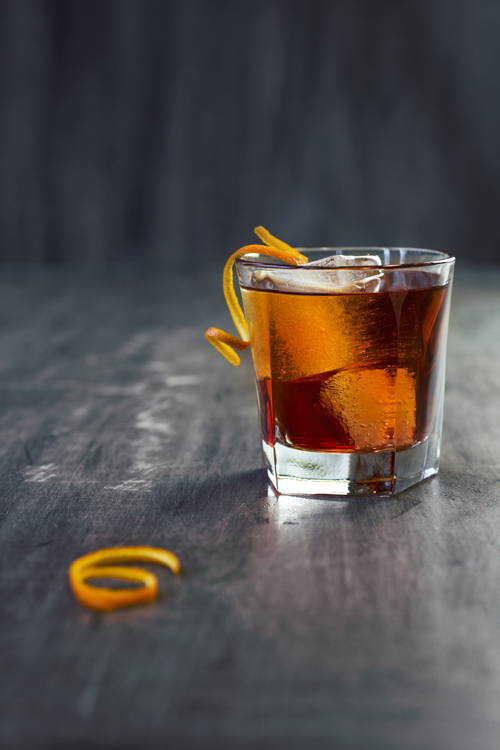 NEGRONI cocktail with aquavit
