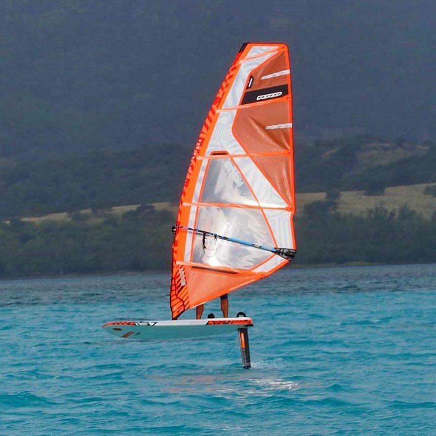 foil windsurfing in Gostovo, Brazil