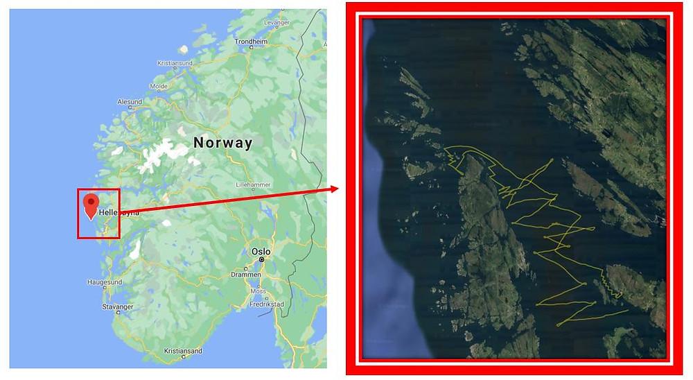 Hellesø island in Norway