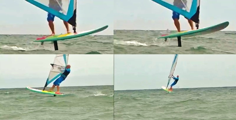 Windfoiling strapless on the AHD sealion