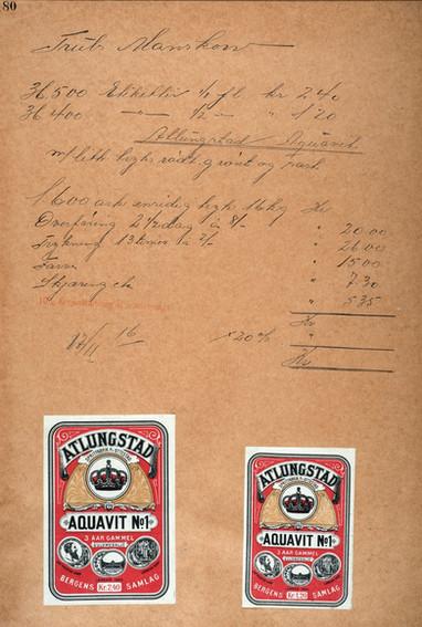 Bestilling av gamle Atlungstad etiketter