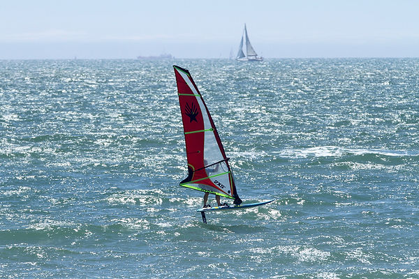 testing the new ezzy hydra windfol sail