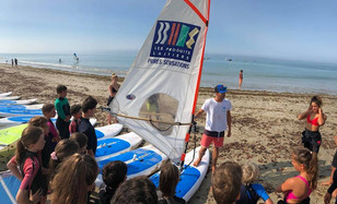 Let's windsurf for first time!!
