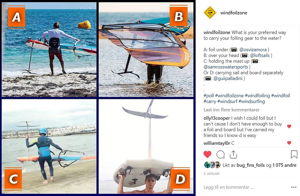 How to carry your windfoil equipment to the water