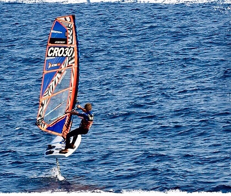 windfoiling in active bol croatia