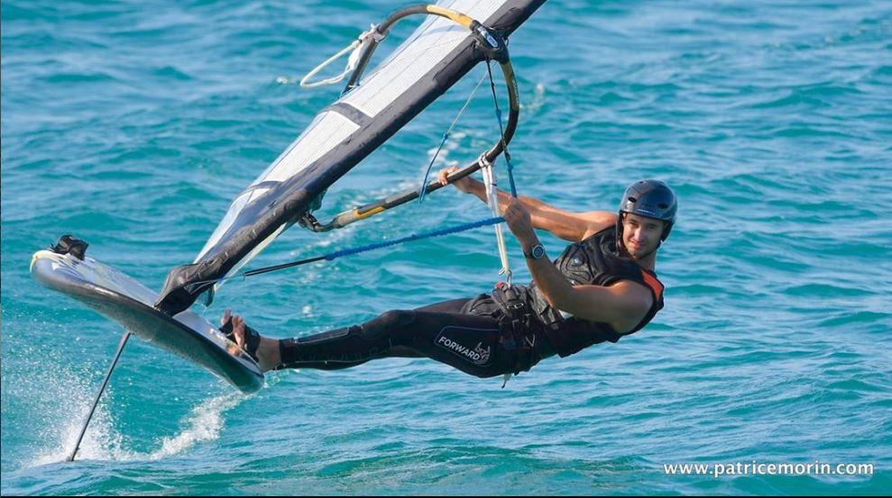 Benjamin Tillier windsurfing foil