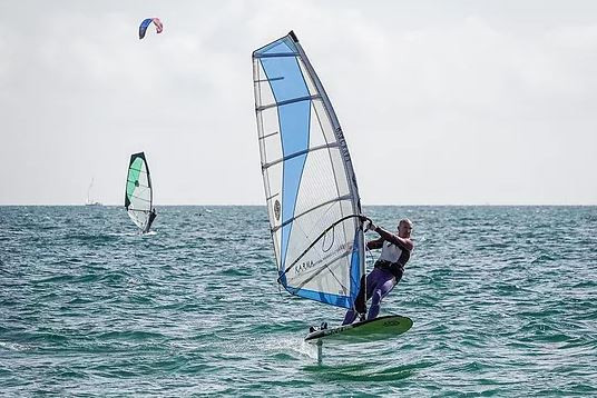 Freeride windfoiling