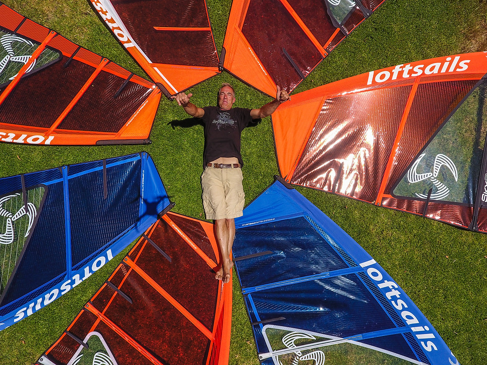 Monty Spindler and his Loftsails windsurf sails 2018