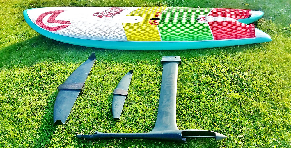 AFS-1 windsurf hydrofoil and AHD Sealiion windSUP board