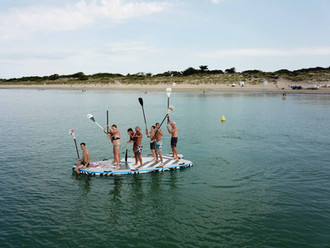 life is better in family!! Rent our MEGA SUP and have fun!! Who is gonna fold in first??
