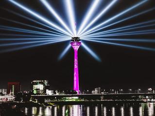 5G Launch Telekom Deutschland, Rheinturm Düsseldorf