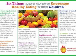 Encouraging Healthy Eating Habits In Children