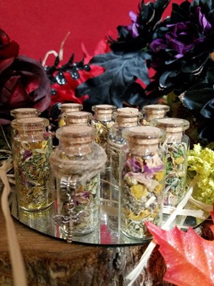 Herbal Bottles - Witchcraft Herbs