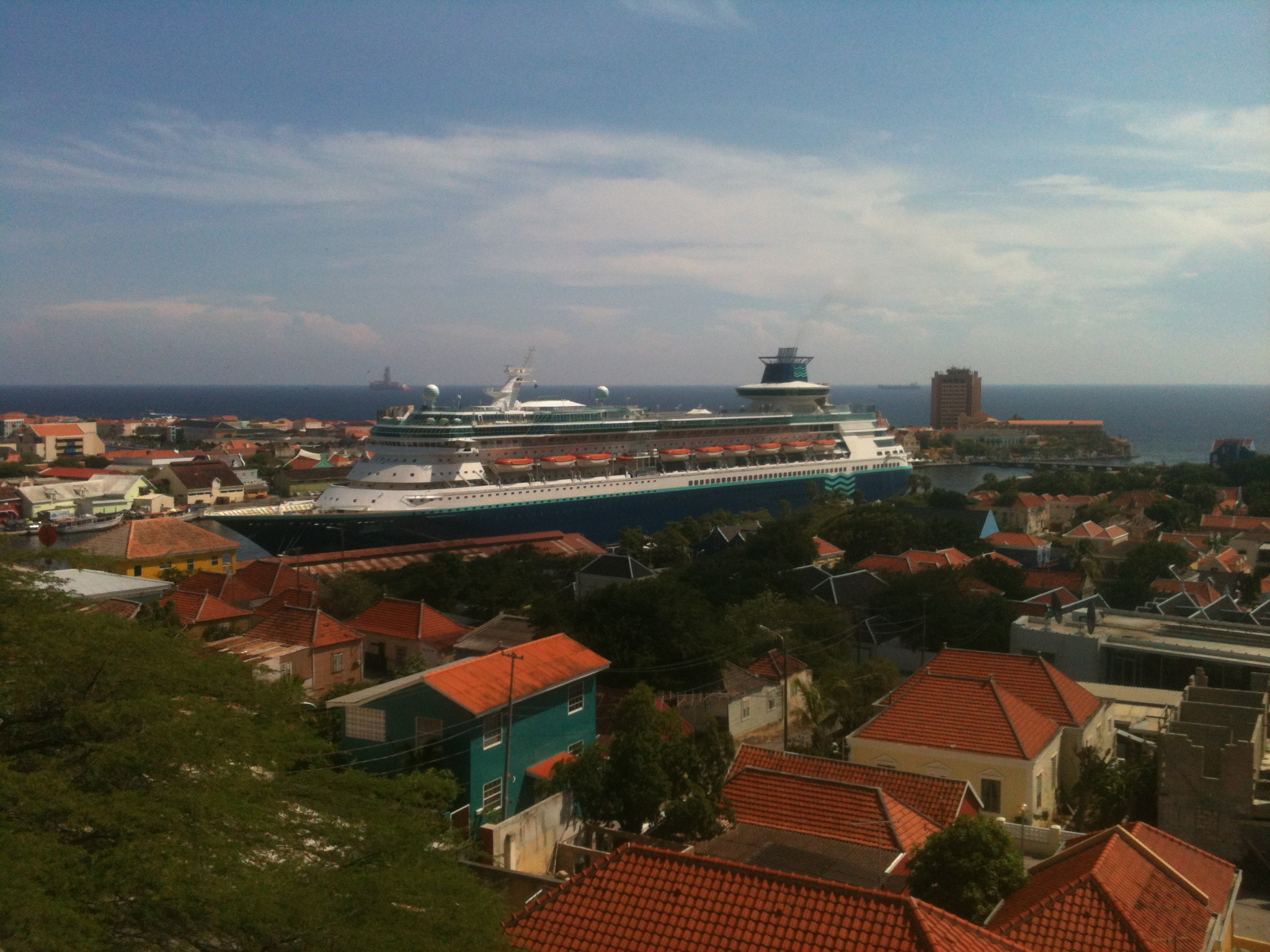 Cruise ship visiting Willemstad