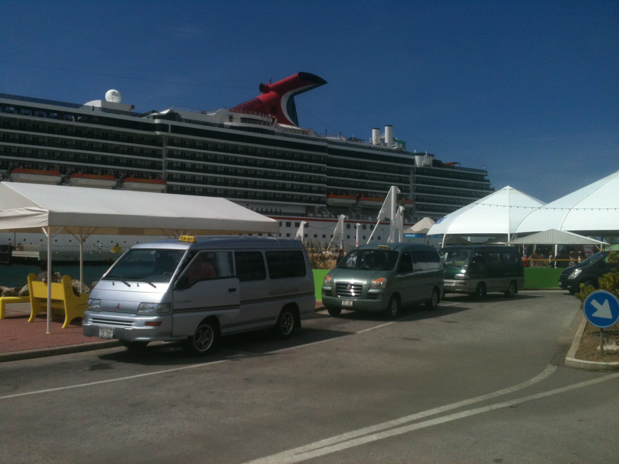 Carnival cruise at the Mega Cruise peer