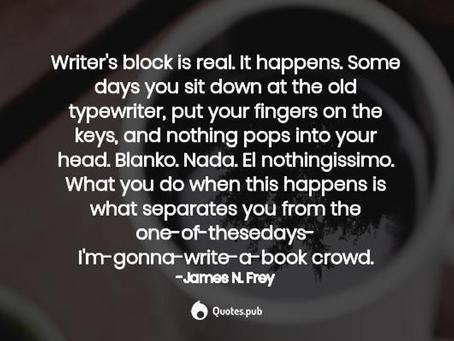 April 26, 2020: Surviving Writer's Block