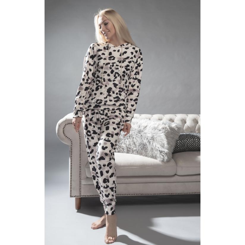 Animal Print hoodie Set