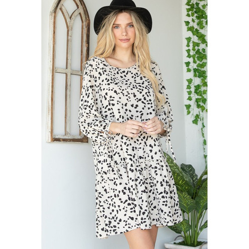 Bubble Mid Sleeve Dress